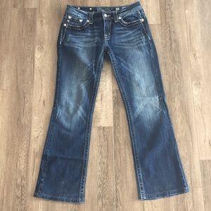Miss Me Boot Cut Diamond Stud Jean